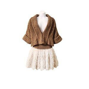 Opening Ceremony Tweed Wool Skirt + Jacket Set